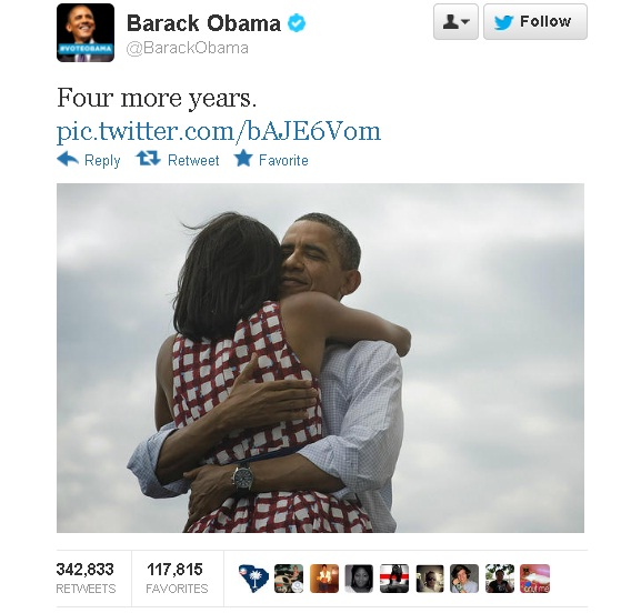 Barack Obama und sein Tweet: Four more Years