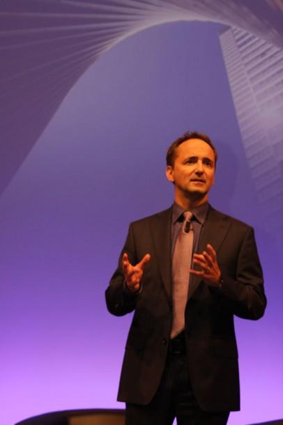 Co-CEO Jim Hageman Snabe stellt in Frankfurt die SAP Business Suite auf HANA vor. Quelle: Martin Schindler