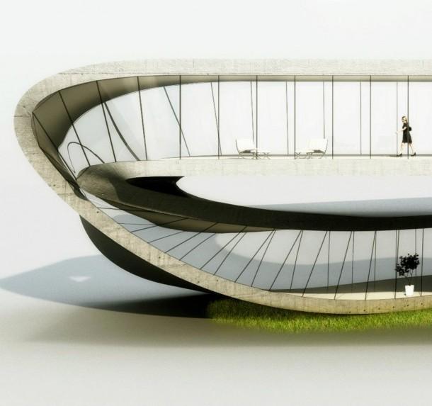 Landscape House, das Haus aus dem 3D-Drucker des Architekten Janjaap Ruijssenaars. Quelle: Universe Architecture
