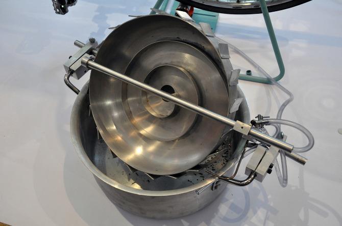 Für dieses Trenngerät hat sich Hal Watts von Goldwäschern inspireren lassen. Quelle: H. Watts