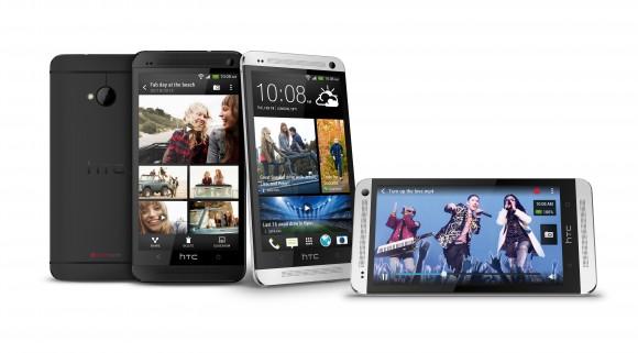 Das HTC One in schwarz. Ab März ist das Gerät zum Listenpreis von 679 Euro zu haben.