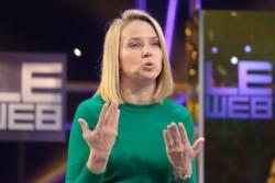 Yahoo-CEO Marissa Mayer wird durch den angeblichen Verkauf an Verizon wohl ihren Posten als CEO abgeben müssen. Quelle: Stephen Shankland/ CNET.com.