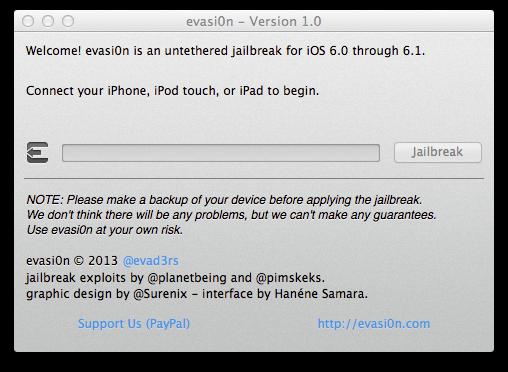 Der Untethered Jailbreak evasi0n unterstützt alle aktuellen iPhone-, iPad- und iPod-Touch-Modelle (Screenshot: ZDNet).