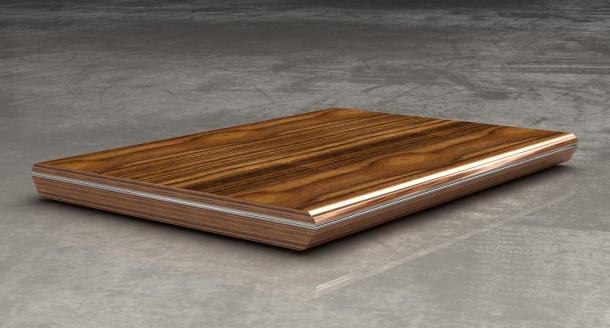 Dieses Laptop-Chassis aus Holz wurde im Rahmen des Projekts D4R so gestaltet, dass sich sein Innenleben einfach austauschen lässt (Bild: FH IZM, Micropro, Universität für Naturressourcen, Universität Limerick)