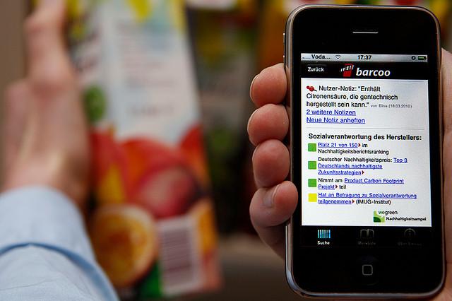 barcoo liefert auch Informationen zu Umweltverträglichkeit von Produkten. Quelle: barcoo