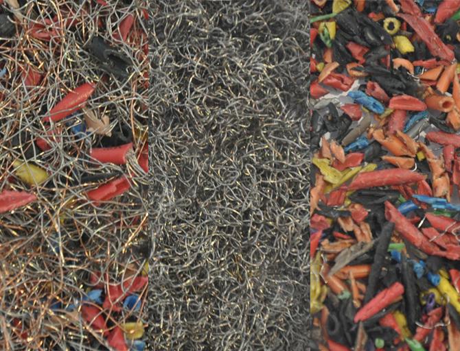 Kupfer und Plastik sind getrennt. Quelle: Hal Watts