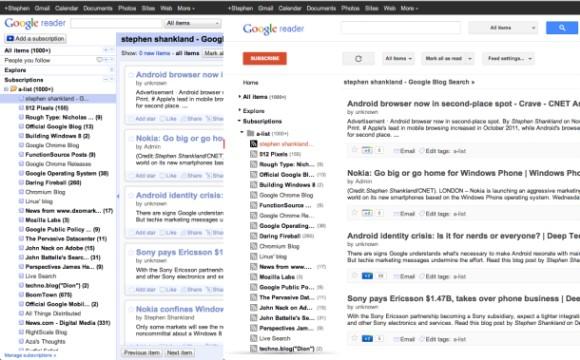 Auf der Suche nach Google Reader Alternativen. Quelle: ZDNet.com
