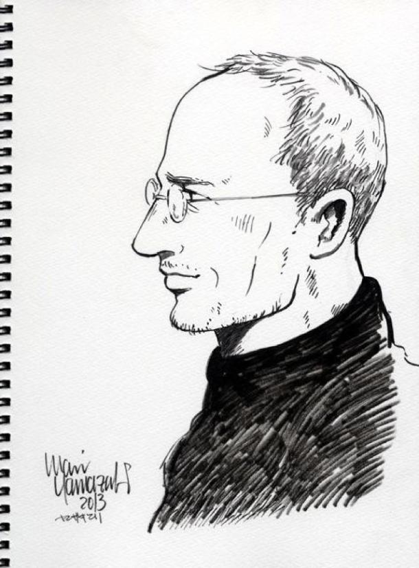 Apple-Gründer Steve Jobs als Manga. Quelle: Mari Yamazaki.