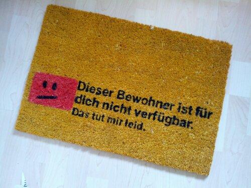 Fußmatte für Bürokraten