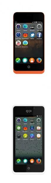 Die beiden ersten Modelle mit Firefox OS: Keon und Peek von Geeksphone. Quelle: Geeksphone.