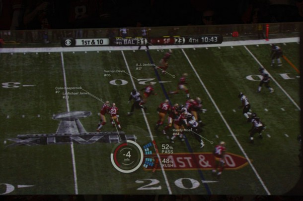American Football mit Augmented Reality.