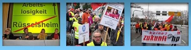 HP trifft mit den Plänen zur Schließung des Standortes Rüsselsheim auf heftigen Widerstand. Quelle: Zukunft @ HP