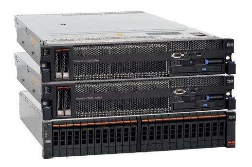 IBMs Speichersystem Storwize V7000 unterstützt jetzt auch Festplatten mit 4 Terabyte Kapazität (Bild: IBM).