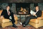 Ronald Reagan und Michail Gorbatschow beim Kamingespräch. Damals war der Atomkrieg und nicht der Cyberwar die größte Sorge der Menschen. Quelle: US Gov