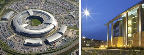Von dieser Zentrale des Geheimdienstes GCHQ in Gloucestershire überwacht Großbritannien den gesamten Internetverkehr. Quelle: GCHQ
