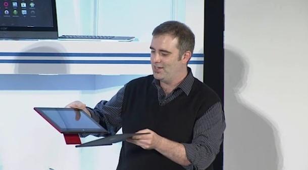 Intel zeigt auf der Computex in Taipeh ein Android-Tablet, das von einem Bay-Trail-Atom-Prozessor angetrieben wird und Strom für einen ganzen Tag liefert. Quelle: Cnet.com