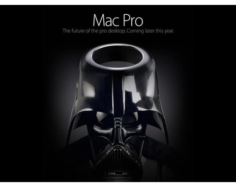 Apples Mac Pro als Darth Vader.