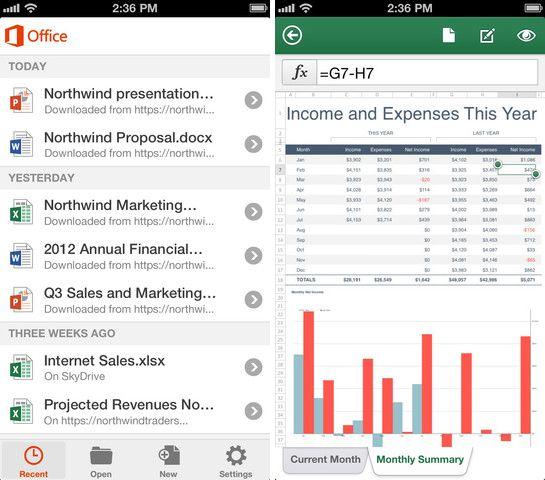 Microsoft Office 2013 für iPhone ist ab sofort über den US-Store von Apple verfügbar. Damit ermöglicht Microsoft das Bearbeiten und Erstellen von Dokumenten in Word , Excel und Powerpoint. Quelle Microsoft.