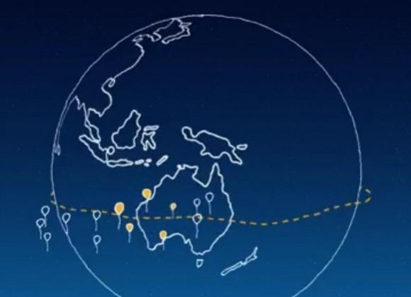 """Googles nennt die Idee hinter dem Projekt Loon selbst ein """"bisschen verrückt"""", bei der mehrere Ballons in großer Höhe Breitbandinternet in entlegene Gebiete bringen sollen. Quelle: Google"""