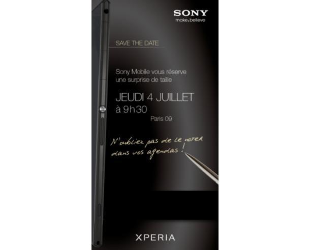 Sonz Xperia Ultra: Eine Einladung für ein Presse-Event in Frankreich legt die Vermutung nahe, dass Sony ein Phablett vorstellen wird.