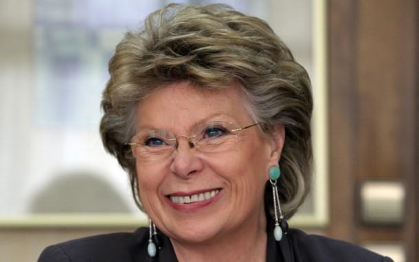 EU-Kommissarin Viviane Reding sieht durch das Abhörprogramm PRISM die Grundrechte eropäischer Bürger gefährdet.