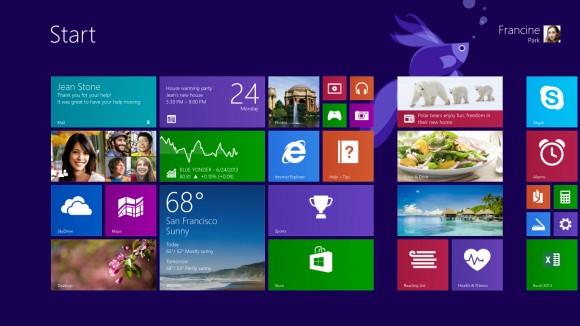 Mit dem neuen Blue-Preview von Windows 8.1 kommt nicht nur der Startbutton zurück, sondern auch der Betta Splendens. Diesen Siamesischen Kampffisch lässt Microsoft gerne auf Beta-Versionen zum Zuge kommen.