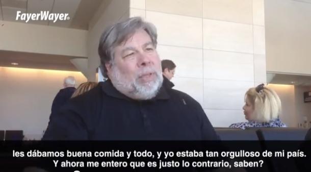 IT-Urgestein Steve Wozniak befürchtet, dass die USA immer mehr zu einer Neuauflage der UDSSR werden. Quelle: Fayer Wayer, Screenshot: Chris Matyszczyk/Cnet.com