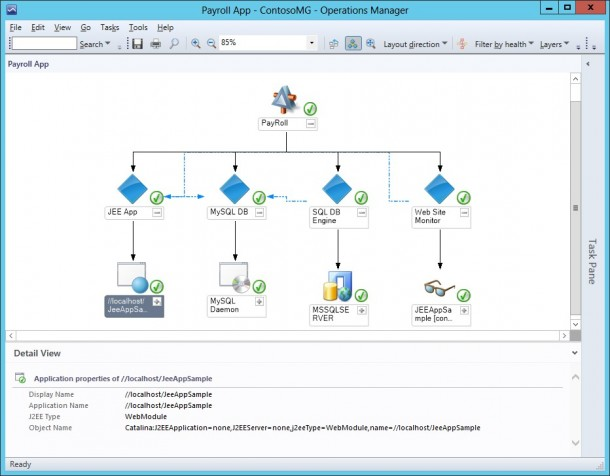 Der neue Operations Manager in Windows Server 2012 R2 (Blue). Quelle: Microsoft