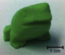 Diesen Frosch haben die Forscher von verschiedenen 3D-Druckern ausdrucken lassen. Quelle: Sciencedirect