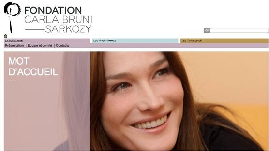 Carla Bruni und ihre Stiftung. Quelle: Change.org