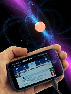 Eines der ersten BOINC-Projekte ist die Suche nach Pulsaren. Quelle: AEI