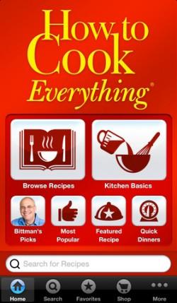 How to Cook Everything ist eine der 10 Anwendungen, die Apple derzeit gratis über den App Store vertreibt. Quelle: Culinate Inc.