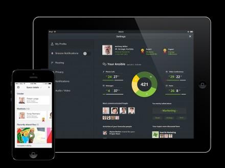 """""""Ansible"""" kann auch das Kommunikationsverhalten der Anwender analysieren und im Idealfall helfen, die Mitarbeiter Kommunikation noch effizienter zu gestalten. Wichtig ist hierbei, dass der Betriebsrat einverstanden ist (Bild: Siemens Enterprise Communications)."""