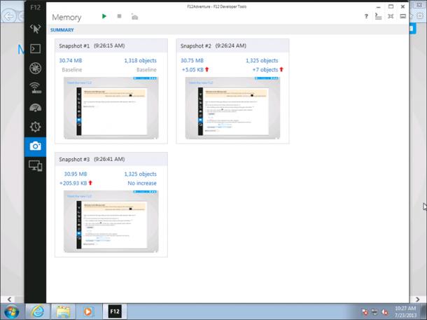 Die Preview von Internet Explorer 11 für Windows 7 enthält F12-Tool für Entwickler. Quelle: Microsoft