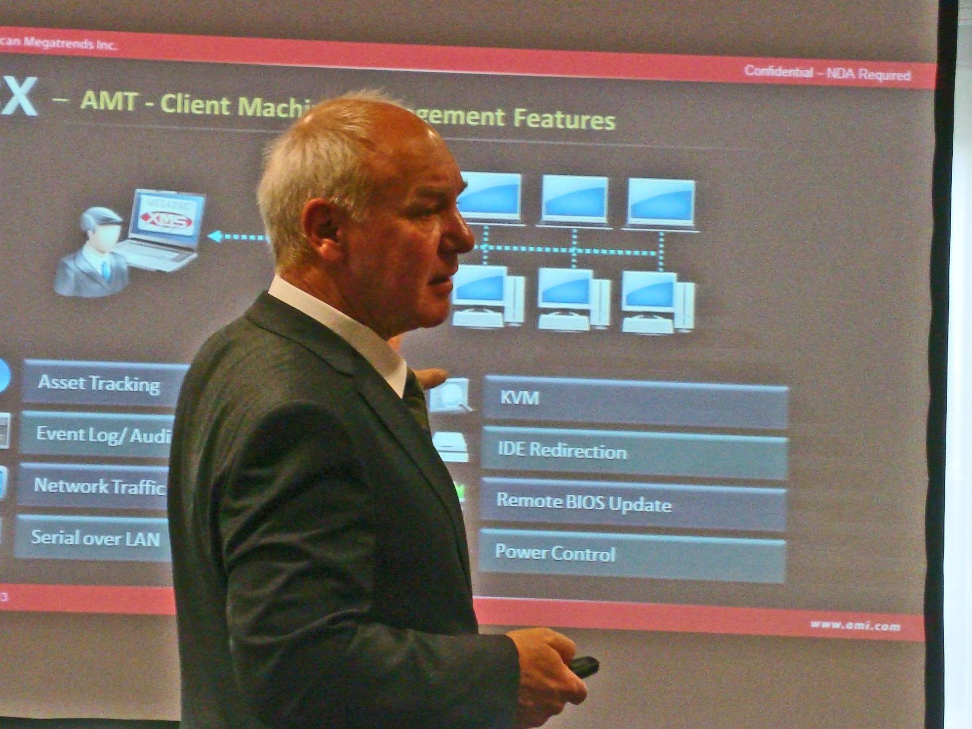 """""""Anwender können Embedded-Clients jetzt endlich einfach aus dem Hintergrund verwalten, auch wenn das Betriebssystem nicht mehr läuft"""", Winfried Rudolf Pröhl, Geschäftsführer AMI GmbH. Quelle: A. Rüdiger"""