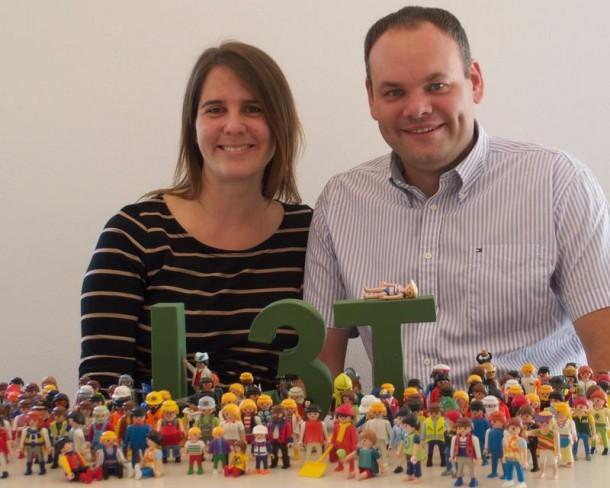 Booksprint für L3T 2.0 Sandra Schön von Salzburg Research und Martin Ebner von der TU Graz sind die treibenden Kräfte hinter dem neuen Lehrwerk L3T 2.0. Quelle: TU Graz