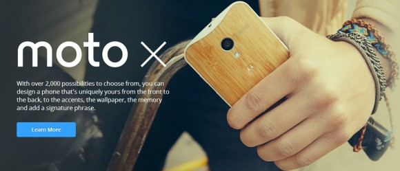 Website zum Motorola Moto X (Screenshot: ZDNet)