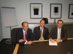 (v.l.n.r.) Arvin Arora (NEO), Oliver Schallhorn (FRITZ & MACZIOL), Jens Beier (NEO)