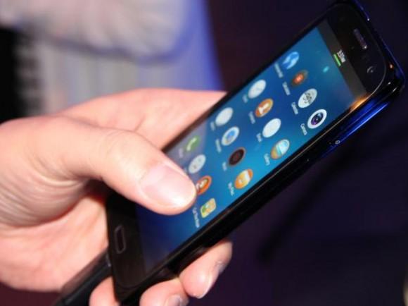 Protoyp eines Tizen-Smartphones von Samsung (Bild: CNET)