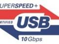 Logo SuperSpeed USB 10 Gbps alias USB 3.1