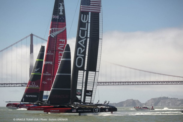 Segel-Krimi beim America´s Cup. Quelle Team Oracle