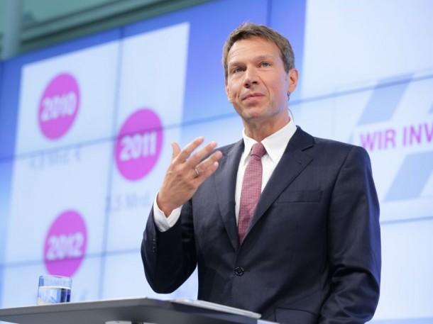 René Obermann, CEO der Deutschen Telekom, kündigt die Gigabit-Gesellschaft an - für 80 Prozent der Deutschen (Bild: Deutsche Telekom).