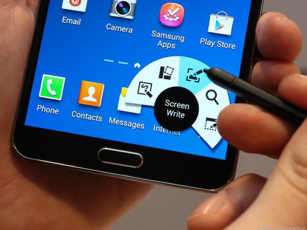 Air Command auf Samsung Galaxy Note 3 (Bild: News.com)