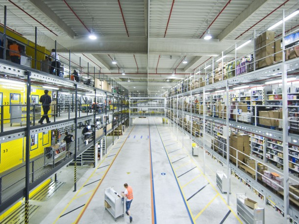 Amazon-Logistik-Zentrum in Leipzig.