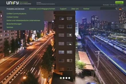 Auch ein neuer Internet-Auftritt gehört zum frisch aus der Taufe gehobenen Siemens-Enterprise-Communication-Nachfolger Unify.  (Foto: Mehmet Toprak)