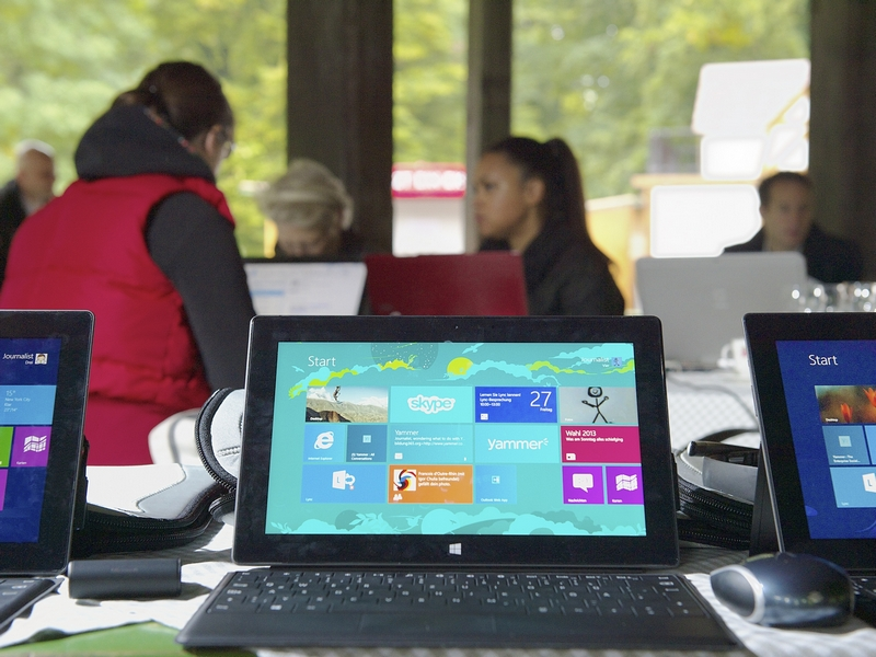 Wie Social Enterprise Kommunikation, Arbeit und Freizeit revolutioniert: Mit Yammer, Lync & Co. am Chinesischen Turm (Bild: Microsoft)