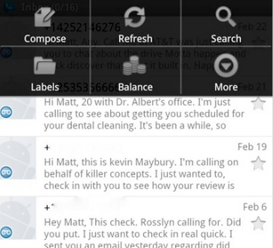 Google Voice unter BlackBlackBerry 10.
