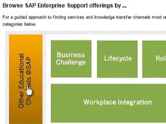 Neue Orientierungshilfe für ein den komplexen Enterprise Support von SAP: die Enterprise Support Value Map.