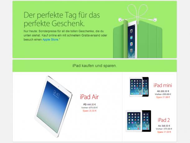 Schnäppchen-Tag bei Apple am Black Friday. Quelle: Apple