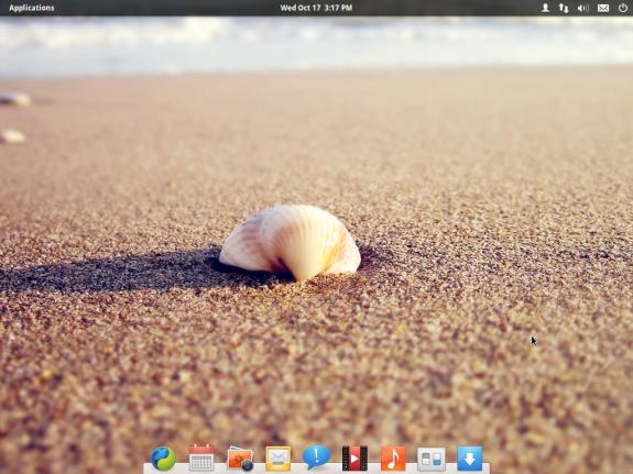 """Das Mac OS unter den Linux-Distributionen: Elementary OS ist jetzt als Beta-Version """"Luna"""" verfügbar. Hier im Bild das neue Destkop-Environment Pantheon. Quelle: Elementary OS"""
